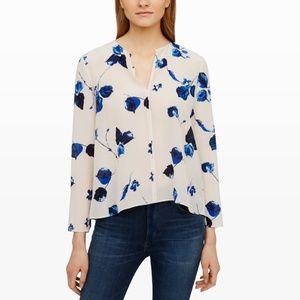 Club Monaco Silk Floral Blouse XS